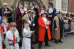 Court of Arraye. Lichfield Greenhill Bower. The Guildhall. Lichfield Staffordshire. Waiting for the Bower Queen and procession.