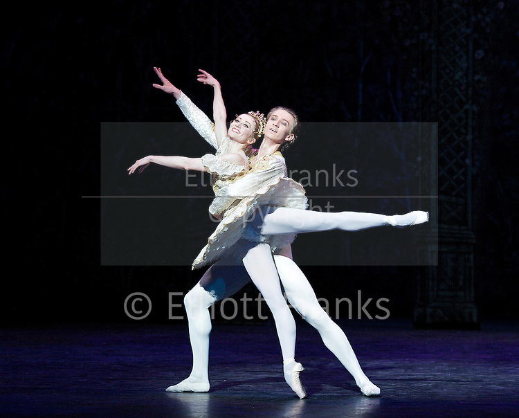 The Nutcracker<br /> English National Ballet <br /> Choreography by Wayne Eagling<br /> Design by Peter Farmer<br /> at The London Coliseum, London, Great Britain <br /> rehearsal <br /> 7th December 2011 <br /> <br /> Daria Klimentova (as Clara)<br /> <br /> Vadim Muntagirov (as Nephew)<br /> <br /> Junor Souza (as Nutcracker)<br /> <br /> Fabian Reimair (as Drosselmeyer)<br /> <br /> James Streeter (as Mouse King)<br /> <br /> Yonah Costa (as Russian)<br /> <br /> Photograph by Elliott Franks