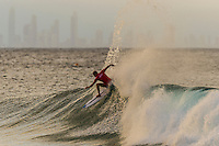 Snapper Rocks, COOLANGATTA, Queensland/AUS (Tuesday, March 15, 2016) Stu Kennedy (AUS) - The Quiksilver and Roxy Pro Gold Coast, the opening stop on the 2016  WSL Championship Tour recommenced at 7:35am this morning with men&rsquo;s and women&rsquo;s Round 4 and the women&rsquo;s Quarterfinals called on in clean three-to-five foot (1 - 1.5 metre) waves at Snapper Rocks.<br /> <br /> There was a break during the high tide with only two heats of the men's Round five not completed.<br /> <br />  .Photo: joliphotos.com