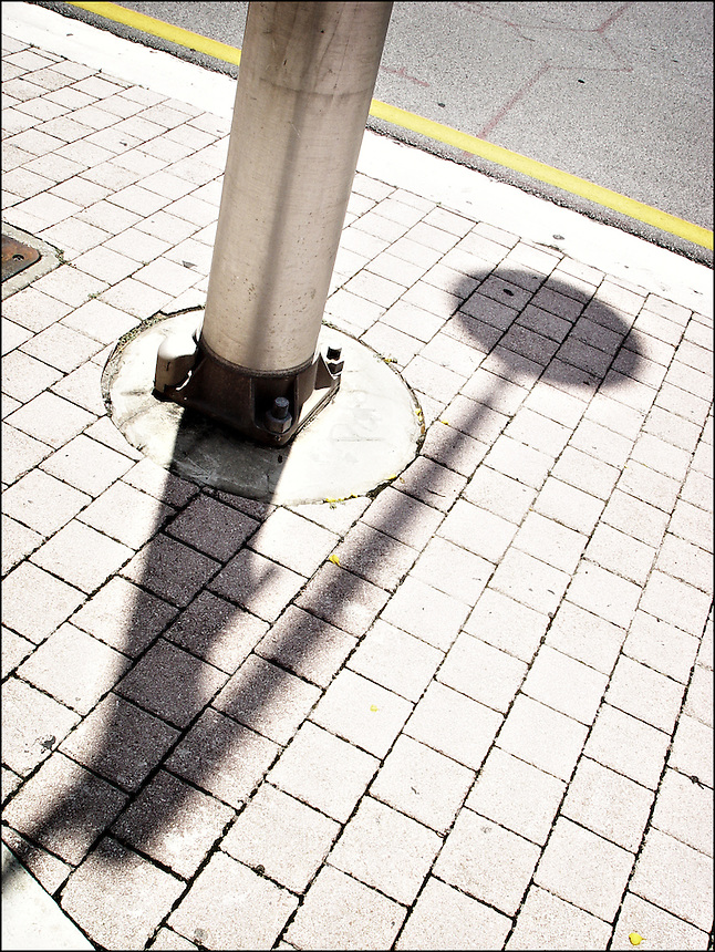 Pole's shadow<br /> From &quot;Color Blind&quot; series. Miami, 2007