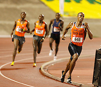 Jon Rankin won the 1500m in a time of 3:46.86sec. at the Jamaica International Invitational Meet held at the National Stadium on Saturday, May 2nd. 2009. Photo by Errol Anderson, The Sporting Image.net