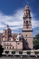 The cathedral in Morelia, Michoacan, Mexico