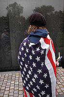 Antiwar protest at the Vietnam Memorial, Washington, D.C. 2002