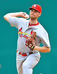 7 March 2012: St. Louis Cardinals pitcher Adam Ottavino on the mound against the Washington Nationals at Space Coast Stadium in Viera, Florida. The teams battled to a 3-3 tie in Grapefruit League Spring Training action. Mandatory Credit: Ed Wolfstein Photo