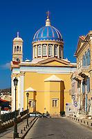 The Neo Classic Greek Orthodox church of  Saint Nicholas,  Ermoupolis, Syros, Greek Cyclades Islands