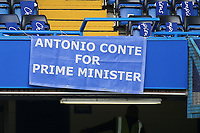 'Antonio Conte for Prime Minister' banner on display during Chelsea vs Sunderland AFC, Premier League Football at Stamford Bridge on 21st May 2017