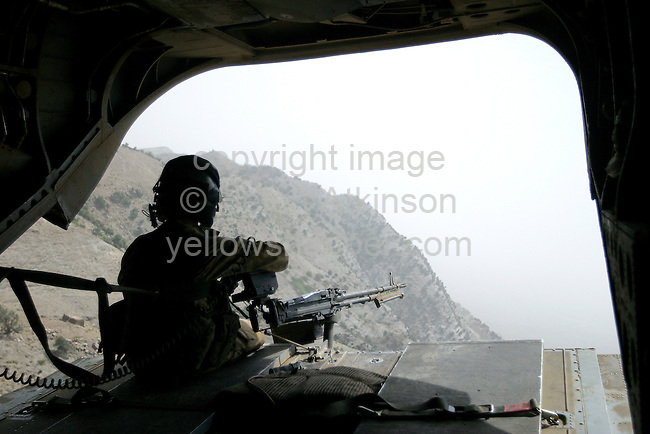 VIEW FROM REAR OF CHINOOK, AFGHANISTAN...PICTURE: HELEN ATKINSON