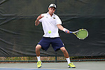 21 April 2016: Notre Dame's Nicolas Montoya. The University of Notre Dame Fighting Irish played the Duke University Blue Devils at the Cary Tennis Center in Cary, North Carolina in the first round of the Atlantic Coast Conference Men's Tennis Tournament. Notre Dame won the match 4-1.