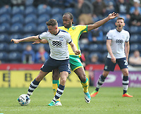 Preston North End's Alan Browne battles with  Norwich City's Cameron Jerome<br /> <br /> Photographer Mick Walker/CameraSport<br /> <br /> The EFL Sky Bet Championship - Preston North End v Norwich City - Monday 17th April 2017 - Deepdale - Preston<br /> <br /> World Copyright &copy; 2017 CameraSport. All rights reserved. 43 Linden Ave. Countesthorpe. Leicester. England. LE8 5PG - Tel: +44 (0) 116 277 4147 - admin@camerasport.com - www.camerasport.com