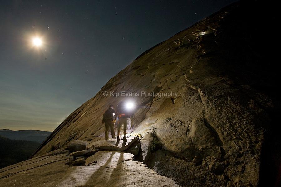 Half Dome Hike at Night