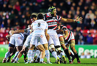 Graham Kitchener of Leicester Tigers in action at a maul. European Rugby Champions Cup match, between Leicester Tigers and Racing 92 on October 23, 2016 at Welford Road in Leicester, England. Photo by: Patrick Khachfe / JMP