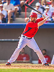 9 March 2013: Washington Nationals outfielder Bryce Harper in action during a Spring Training game against the Miami Marlins at Space Coast Stadium in Viera, Florida. The Nationals edged out the Marlins 8-7 in Grapefruit League play. Mandatory Credit: Ed Wolfstein Photo *** RAW (NEF) Image File Available ***