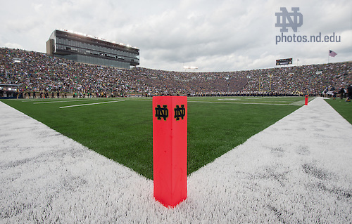 Aug. 30, 2014; Notre Dame Stadium before the game between the Notre Dame Fighting Irish and the Rice Owls. Notre Dame won 48-17..Photo by Matt Cashore