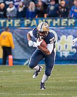 Pitt running back Qadree Ollison. The Pitt Panthers football team defeated the Louisville Cardinals 45-34 on Saturday, November 21, 2015 at Heinz Field, Pittsburgh, Pennsylvania.