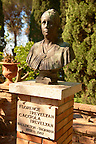 Statue of Florence Trevelyan her Gardens in Taormina Italy, also known as, the Giardino Trevelyan and the Parco Duchi di Cesarò.