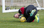 St Johnstone Training&hellip;07.04.17<br />Alan Mannus pictured during training this morning at McDiarmid Park ahead of tomorrow&rsquo;s trip to Inverness<br />Picture by Graeme Hart.<br />Copyright Perthshire Picture Agency<br />Tel: 01738 623350  Mobile: 07990 594431