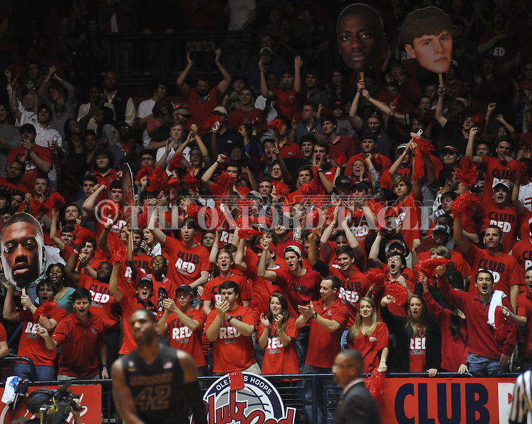 "Ole Miss fans vs. Missouri at the C.M. ""Tad"" Smith Coliseum on Saturday, January 12, 2013. Ole Miss defeated #10 ranked Missouri 64-49."