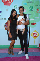 CULVER CITY, CA - SEPTEMBER 24: Andrew Keegan, Arista ILona, Aiya Rose Keegan attends the Step2 & Favored.by Present The 5th Annual Red Carpet Safety Awareness Event at Sony Pictures Studios on September 24, 2016 in Culver City, California. (Credit: Parisa Afsahi/MediaPunch).
