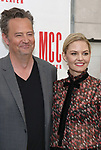 Matthew Perry and Jennifer Morrison attend 'The End Of Longing' cast photocall at Roundabout Rehearsal Studio on April 20, 2017 in New York City.