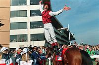 Pix:Michael Steele/SWpix...Horse Racing. Frankie Detorri, Doncaster, 1996...COPYRIGHT PICTURE>>SIMON WILKINSON..Frankie Detorri, Doncaster.