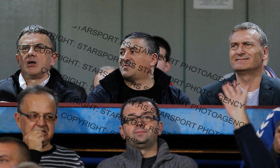 Fudbal Super liga season 2013-2014<br /> Radnicki Nis v Crvena Zvezda<br /> Miodrag Zecevic (L) Ivica Toncev (C) Zoran Stojadinovic (R)<br /> Nis, 26.10.2013.<br /> foto: Srdjan Stevanovic/Starsportphoto &copy;