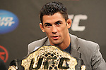 September 29, 2011; Washington D.C.; USA; UFC Bantamweight Champion Dominick Cruz speaks at the final press conference for their upcoming bout at UFC on Versus 6.