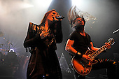 EPICA - vocalist Simone Simons and gutiarist Isaac Delahaye - performing live at the Empire in Shepherds Bush London UK - 03 Feb 2017.  Photo credit: Zaine Lewis/IconicPix