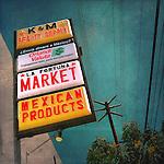 Retro street sign in USA