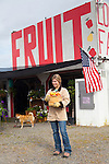 The Mcilrath fruit stand on Highway 12, just before entering the city of Yakima.