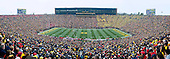 A panoramic view of the Big House as Michigan took on Ohio State in one of the greatest rivalries in NCAA college football.
