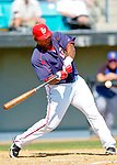 18 March 2006: Marlon Byrd, outfielder for the Washington Nationals, at bat during a Spring Training game against the New York Mets at Space Coast Stadium, in Viera, Florida. The Nationals defeated the Mets 10-2 in Grapefruit League play...Mandatory Photo Credit: Ed Wolfstein Photo..