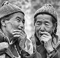 Themisang  in Leh, Jammu and Kashmir, India.