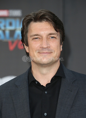 "HOLLYWOOD, CA - April 19: Nathan Fillion, At Premiere Of Disney And Marvel's ""Guardians Of The Galaxy Vol. 2"" At The Dolby Theatre  In California on April 19, 2017. Credit: FS/MediaPunch"