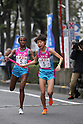 (L-R) Grace Kimanzi, Yuka Tokuda (Starts), NOVEMBER 3, 2011 - Ekiden : East Japan Industrial Women's Ekiden Race at Saitama, Japan. (Photo by Toshihiro Kitagawa/AFLO)