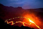 Africa, East, Ethiopia, Etiopia, Dancalia,  Danakil Desert, Erta Ale, Volcano, Cladera, Magma Lake