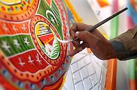 Boats and other forms of travel are popular motifs for the truck painters of the Grand Trunk Road who decorate the goods vehicles of Pakistan.
