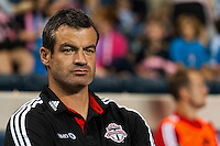 Toronto FC head coach Ryan Nelsen. The Philadelphia Union defeated Toronto FC 1-0 during a Major League Soccer (MLS) match at PPL Park in Chester, PA, on October 5, 2013.