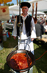 Birkaporkolt ( mutton porkolt). Paprika food festival, Kalocsa. Hungary