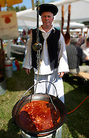 Birkaporkolt ( mutton porkolt). Paprika food festival, Kalocsa. Hungary