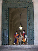 Swiss Vatican Guards in Vatican, Rome, Italy, State of the Vatican City, World Heritage Site
