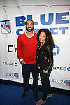 New York Giants Sencer Paysinger and Guest Attend NEW YORK Rangers ROLL OUT THE &ldquo;BLUE CARPET PRESENTED by Chase&rdquo; <br /> FOR GAME THREE AGAINST WASHINGTON at Madison Square Garden, NY