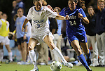 13 October 2011: North Carolina's Megan Brigman (3) and Duke's Mollie Pathman (24). The University of North Carolina Tar Heels defeated the Duke University Blue Devils 1-0 at Fetzer Field in Chapel Hill, North Carolina in an NCAA Division I Women's Soccer game.