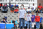 Ole Miss fan Matt Lowry dresses as movie character Michael Myers when pitcher Mike Mayers pitches, vs. North Carolina-Wilmington at Oxford-University Stadium in Oxford, Miss. on Sunday, February 26, 2012..