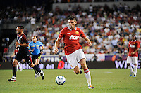Federico Macheda (27) of Manchester United. Manchester United defeated the MLS All-Stars 4-0 during the MLS ALL-Star game at Red Bull Arena in Harrison, NJ, on July 27, 2011.
