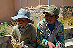 South America, Bolivia, Pariti. Local boys of Pariti Island on Lake Titicaca.