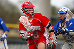 May 1, 2009:    #18 Brian Lalley of Ohio State and #14Sean Purio of Air Force in action during the NCAA Lacrosse game between Air Force and Ohio State at GWLL Tournament in Birmingham, Michigan. Ohio State defeated Air Force 10-5.  Ohio State defeated Air Force 10-5. (Credit Image: Rick Osentoski/Cal Sport Media)