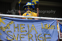 A young Swedish supporter at the UEFA Womens U19 Championships at Stebonheath park Sunday 25th August 2013. All images are the copyright of Jeff Thomas Photography-www.jaypics.photoshelter.com-07837 386244-Any use of images must be authorised by the copyright owner.
