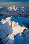 Aerial view of Glacier Peak from the northeast on the morning of January 16