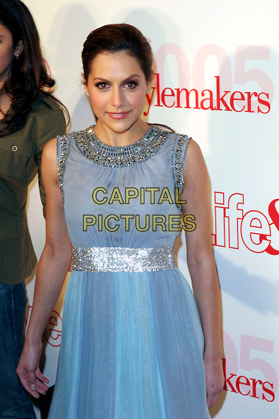 BRITTANY MURPHY.Attends Life & Style Magazine Presents Stylemakers 2005 held at the Monmartre Lounge, Hollywood, California. USA, 26 May 2005. .half length grey blue dress silver beaded beads pony tail ponytail.Ref: ADM.www.capitalpictures.com.sales@capitalpictures.com.©Zach Lipp /AdMedia/Capital Pictures.