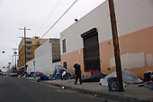 Los Angeles, California..March 23, 2012....LA's skid row, the home of up to 5,000 homeless people many who live on the streets of the dozen or so block that define the area.